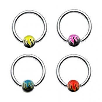 Flame Ball Captive Ring
