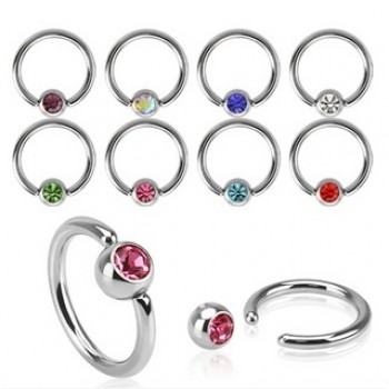 Gem Ball Captive Ring