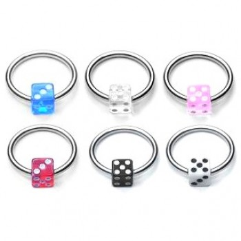 UV Dice Captive Ring