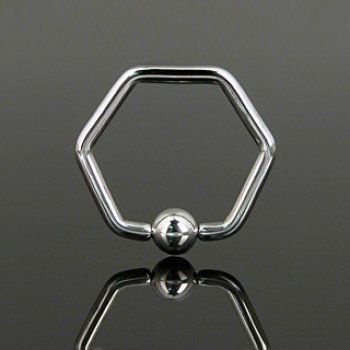 Hexagon Captive Ring
