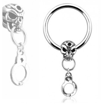 Skull Handcuff Captive Ring