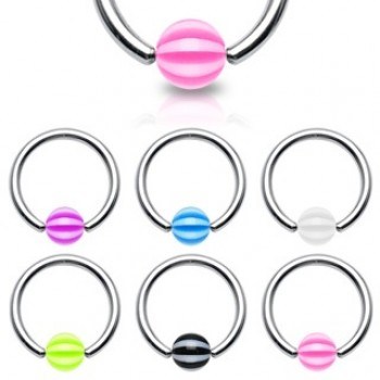 Stripe Ball Captive Ring
