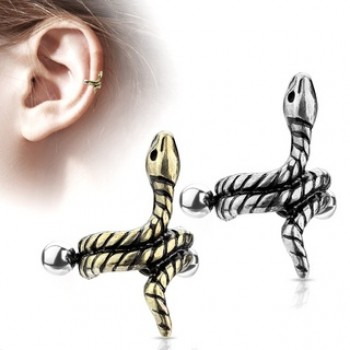 Coiled Snake Helix Ear Cuff