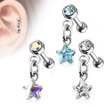 Star Dangle Tragus Stud