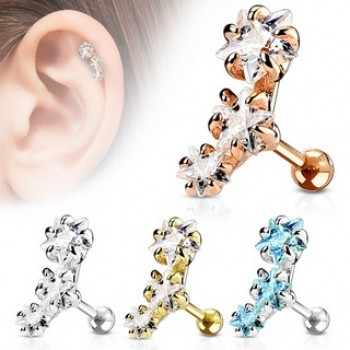 CZ Star Tragus Cartilage