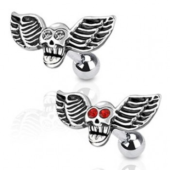 Wing Skull Cartilage Tragus Bar