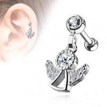 Angel Dangle Cartilage Tragus Bar