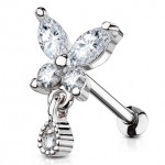 Butterfly Dangle Cartilage Tragus Bar