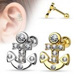 CZ Anchor Tragus Cartilage