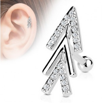 CZ Arrow Tragus Cartilage Bar