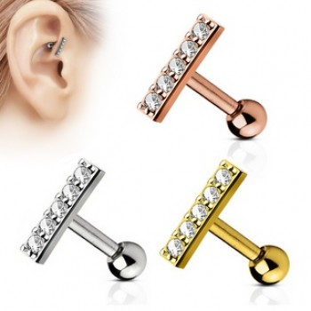 CZ Bar Tragus Cartilage