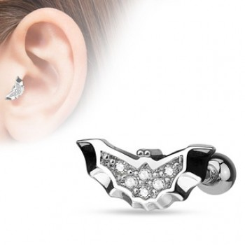 CZ Bat Tragus Cartilage Bar