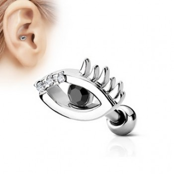 CZ Eye Cartilage Tragus Bar