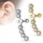 CZ Flower Tragus Cartilage