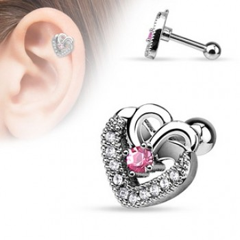 Heart Tragus Cartilage Bar