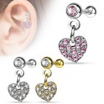 CZ Heart Tragus Cartilage