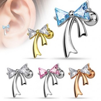 CZ Ribbon Tragus Cartilage