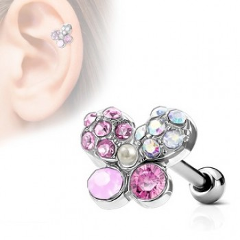 Butterfly Tragus Cartilage Bar