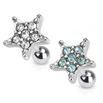 Gem Star Tragus Cartilage