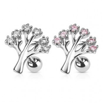 Gem Tree Tragus Cartilage Bar