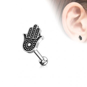 Hamsa Hand Cartilage Bar