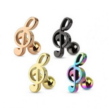 Music Note Tragus Bar