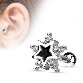 Star Tragus Cartilage Bar