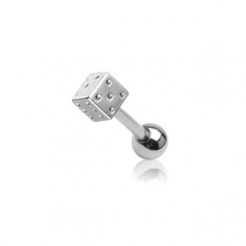 Surgical Steel Dice Tragus