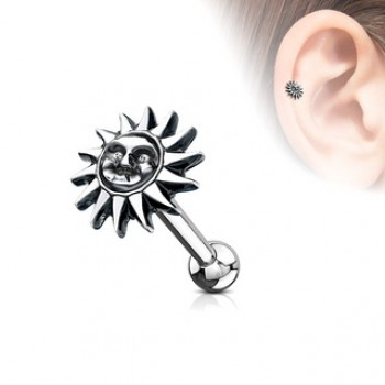 Sun Face Cartilage Bar