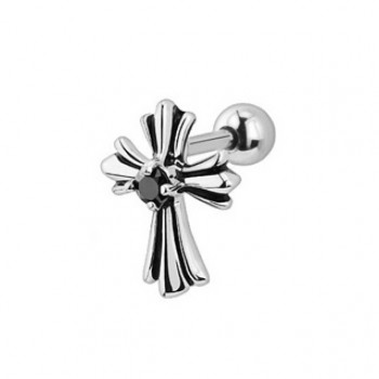 Cross Tragus Cartilage Bar