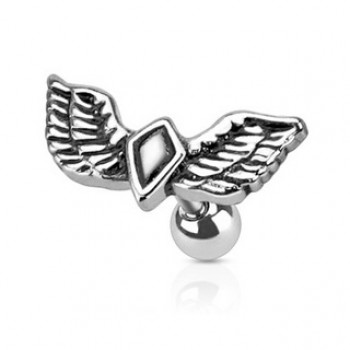 Wing Diamond Tragus Bar