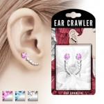 1 Pair CZ Star Ear Crawlers