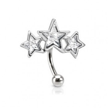 CZ Star Eyebrow Bar