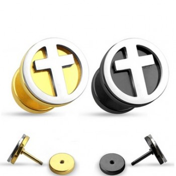 Cross Fake Ear Plug