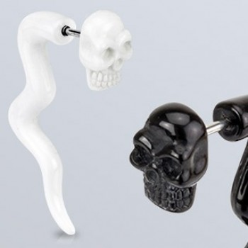 Acrylic Skull Fake Ear Taper