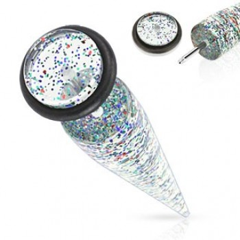 Glitter Fake Ear Taper