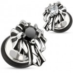 Cross CZ Fake Ear Plug