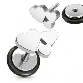 Love Heart Fake Ear Plug