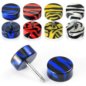 Tiger Print Fake Ear Plug