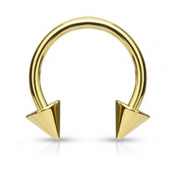 Gold IP Spike Horse Shoe
