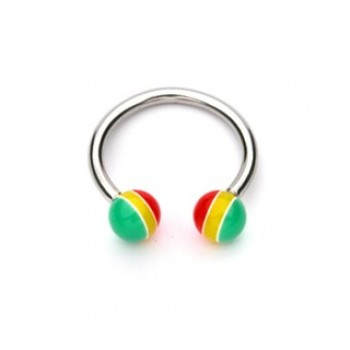 Jamaican Ball Horse Shoe Ring