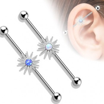 Opal Sunburst Industrial Barbell