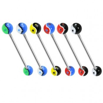 Ying Yang Ball Industrial Barbell
