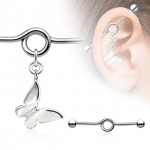 Butterfly Dangle Industrial Barbell