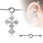 Cross Dangle Industrial Barbell