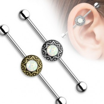 Opal Star Industrial Barbell