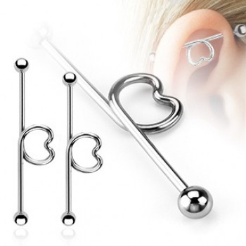 Heart loop Ball Industrial Barbell
