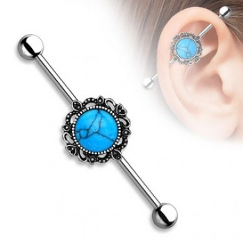 Turquoise Industrial Barbell