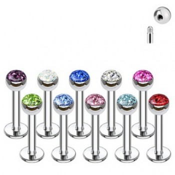 Ferido Gem Ball Labret Bar
