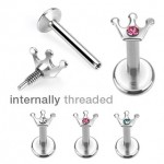 Crown Internally Labret Bar